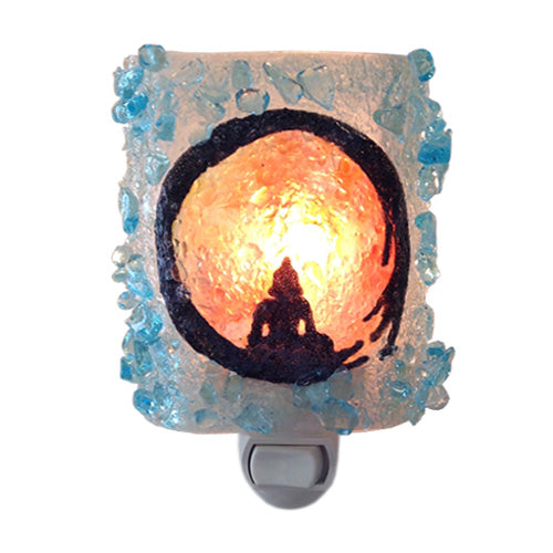 Recycled Glass Zen Circle Night Light
