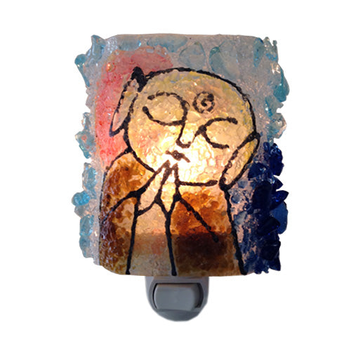 Recycled Glass Jizo Night Light