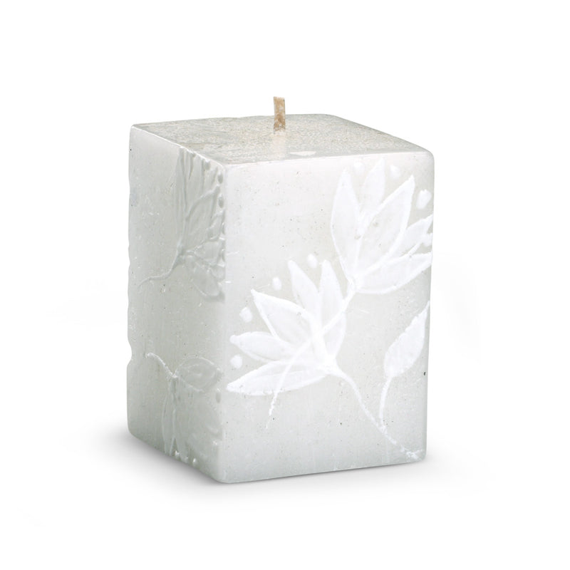 Hand Painted Lotus Flower Cube Candle