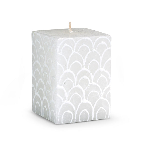 Hand Painted Lotus Petal Cube Candle