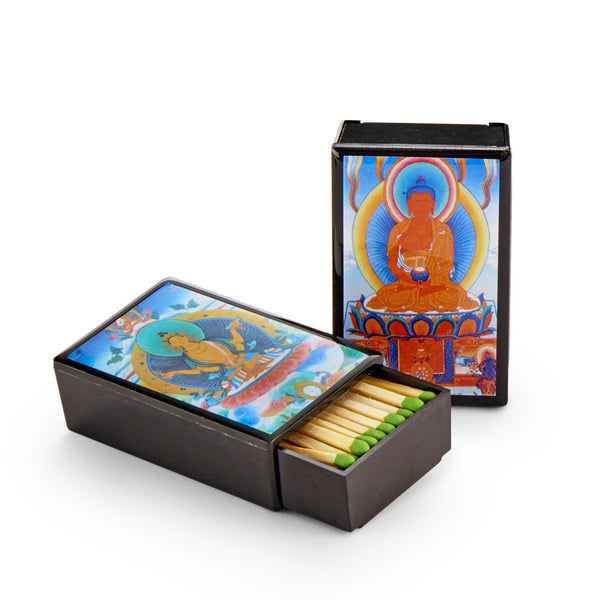 Thangka Art Sliding Match Box, set of 2