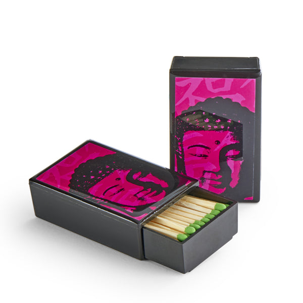 Neon Buddha Sliding Match Box, set of 2