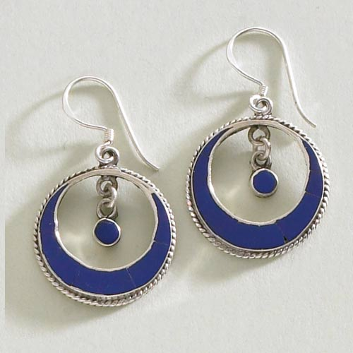 Lapis Moon Earrings