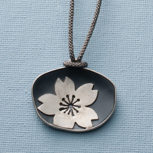 Large Sakura Pendant Necklace