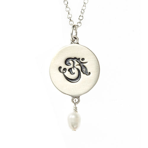 OM with Pearl Yoga Necklace