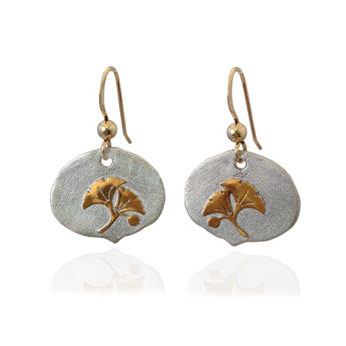 Golden Ginkgo Earrings