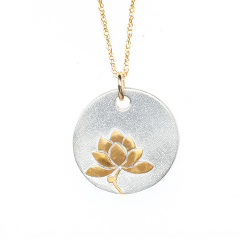 Golden Lotus Necklace
