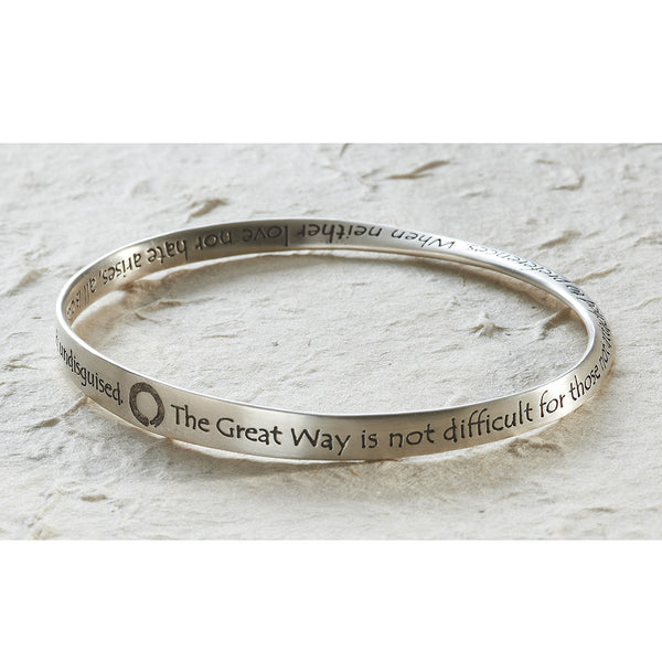 Great Way Bracelet, matte sterling silver