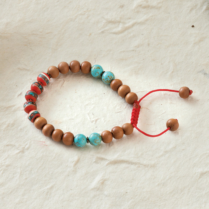Sandalwood and Yak Bone Healing Bracelet
