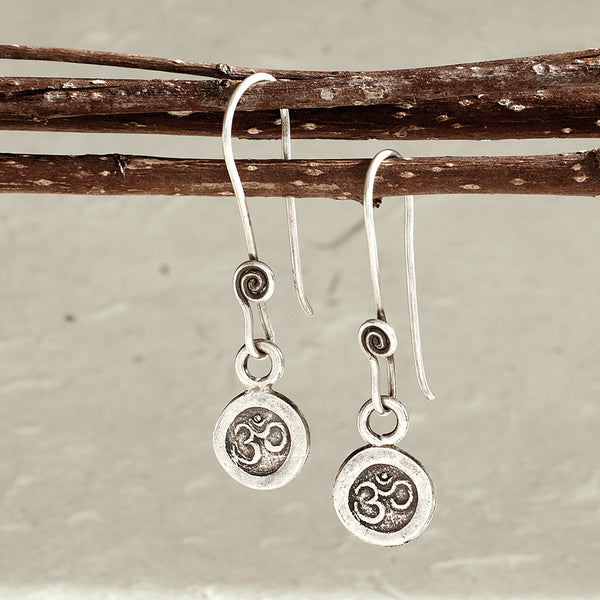 Om Drop Earrings