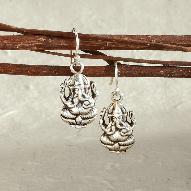 Sterling Silver Ganesh Earrings