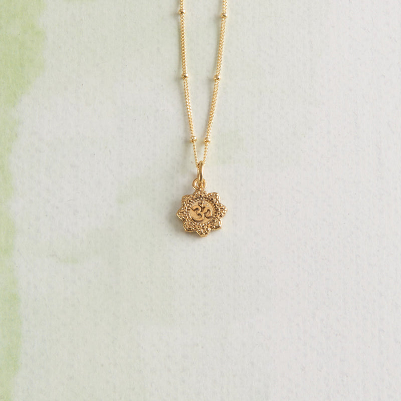 Vermeil Om Yoga Necklace