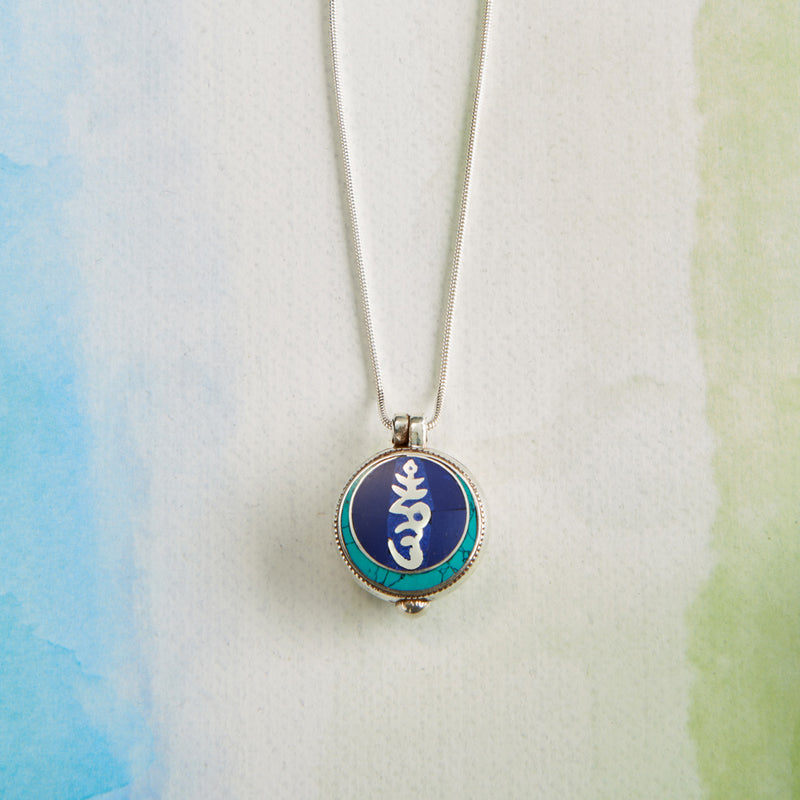 Sterling Silver Hum Pendant