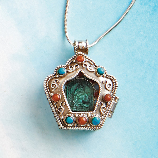 Green Tara Shrine Pendant