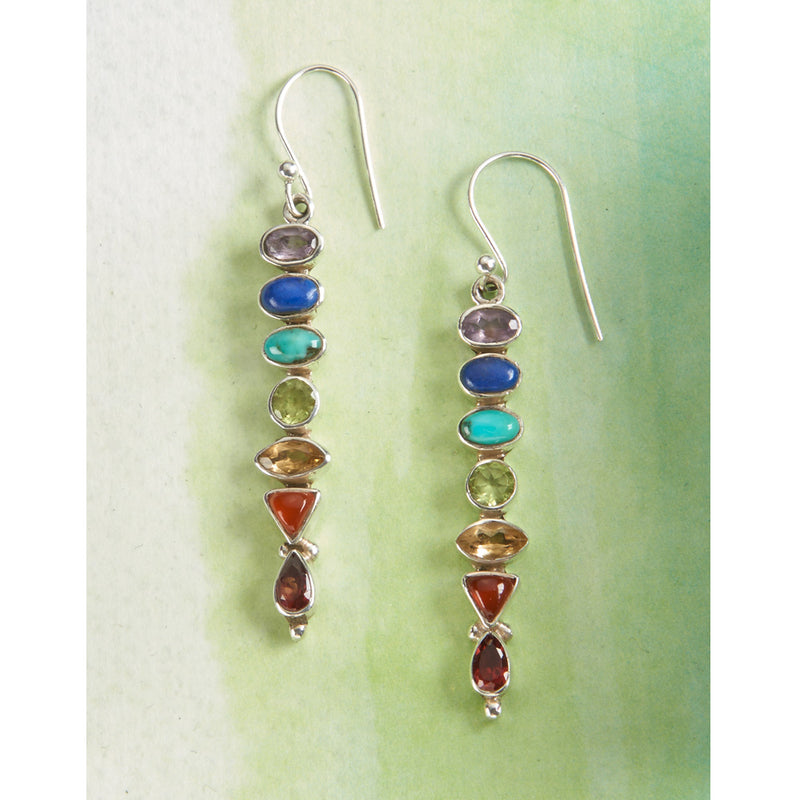 Sterling Silver Chakra Earrings