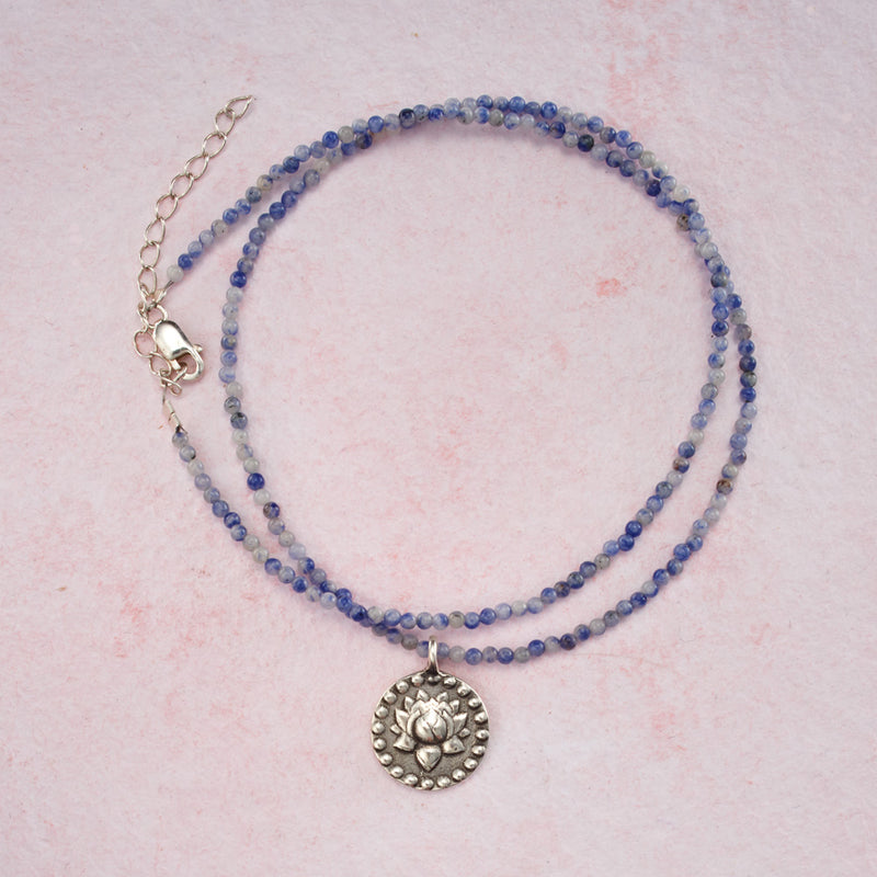 Beaded Sodalite OM Necklace