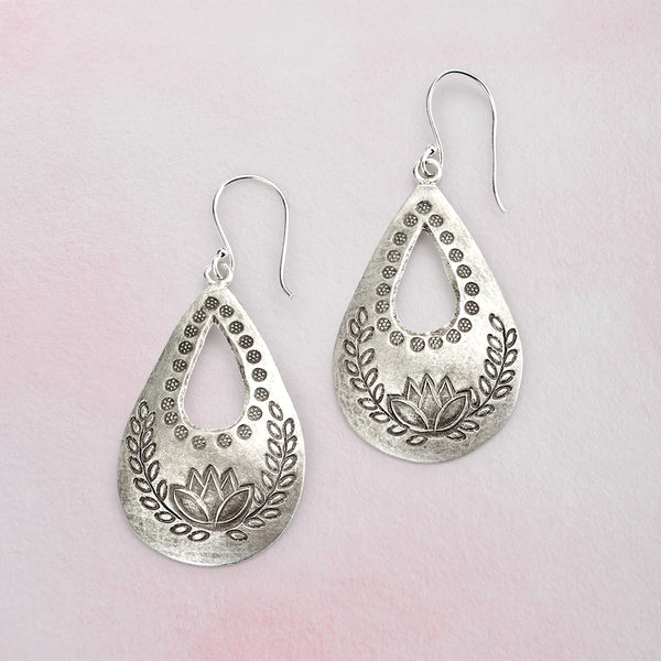 Hill Tribe Lotus Earrings
