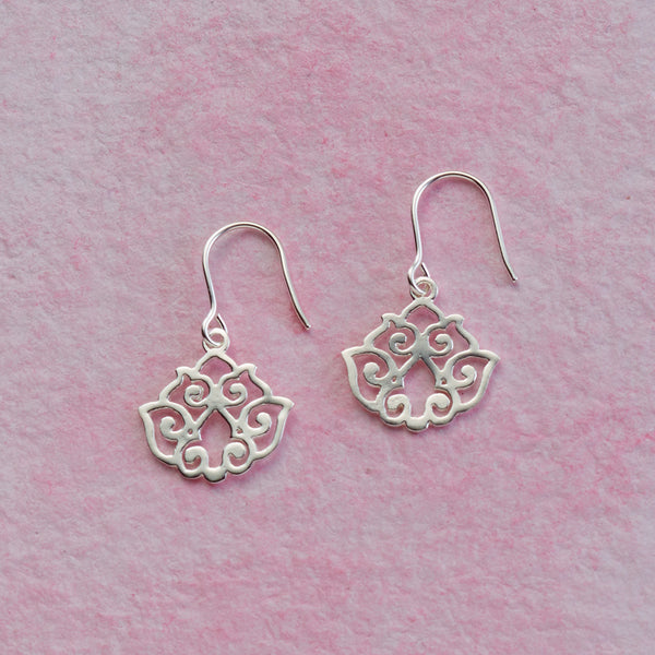 Shiny Lotus Earrings