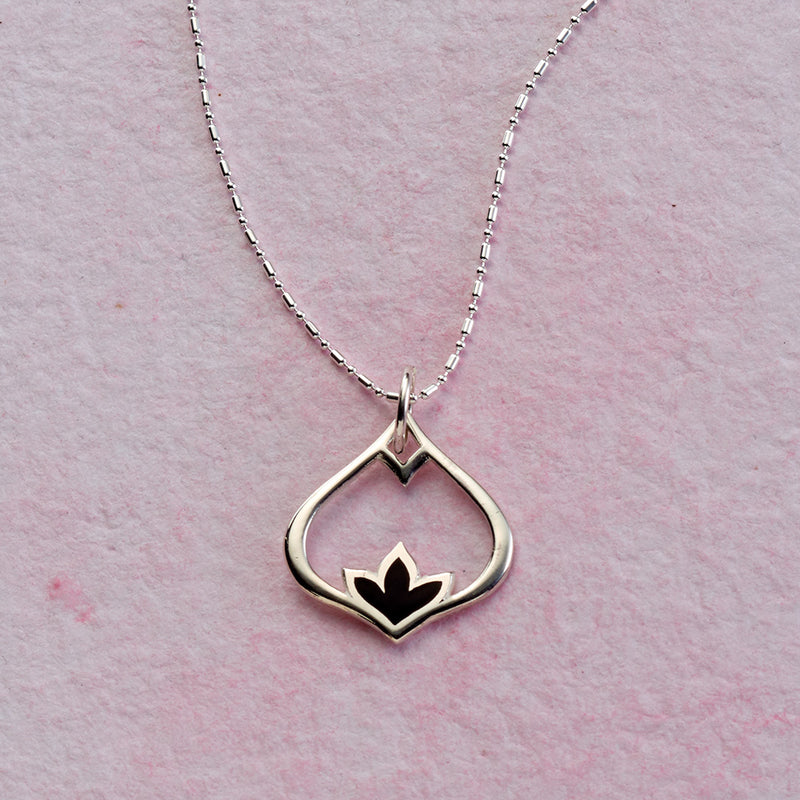 Lotus Teardrop Necklace