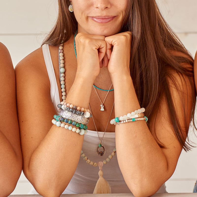 Turquoise and Sterling Silver Tribal Bracelet