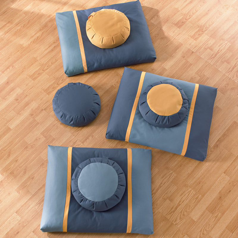 Stillness & Light: Blue Moon Meditation Cushion Set