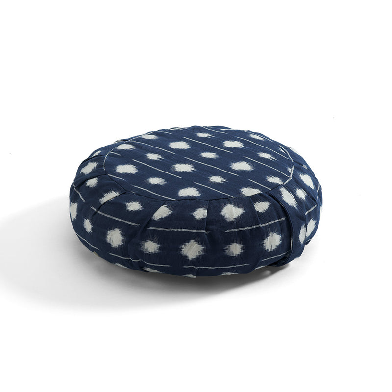 Zippered Ikat Zafu, dots