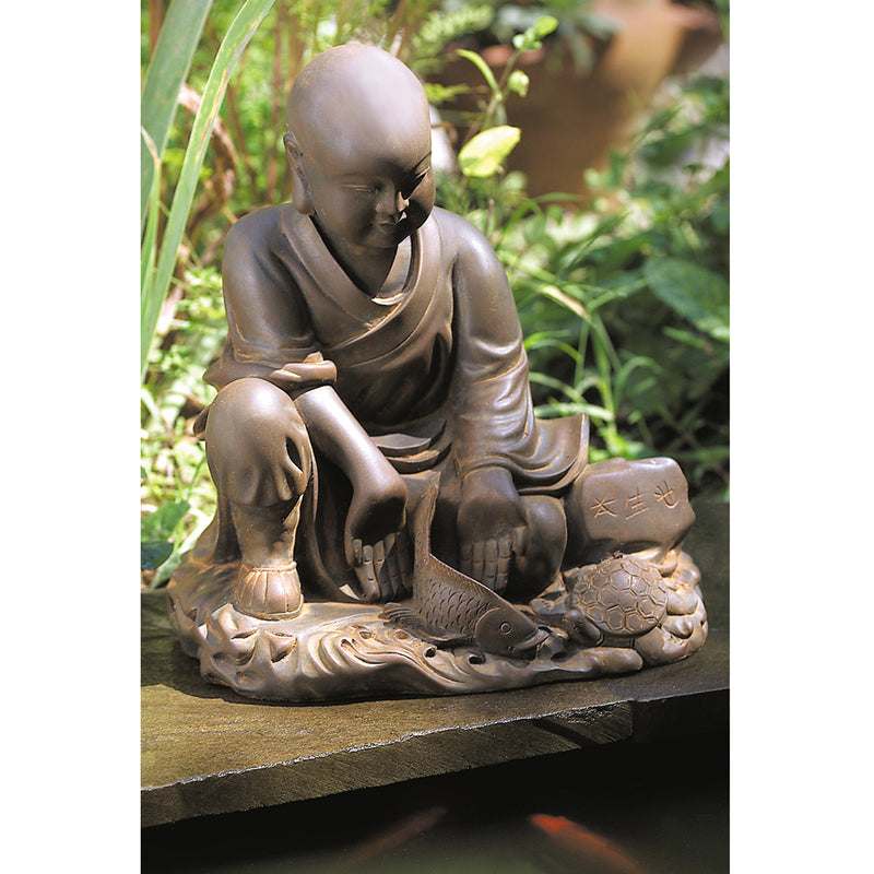 'May All Beings Be Free' Garden Monk Statue, Small