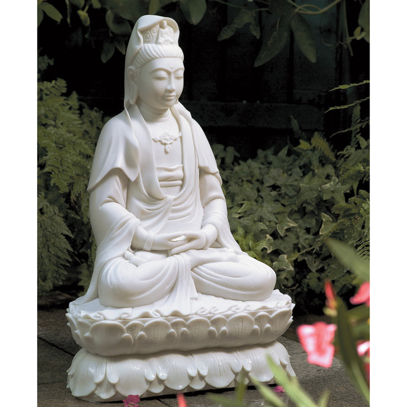 Seated Marble Kuan Yin