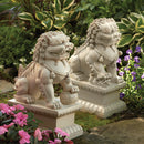 Foo Dog Garden Statues, white