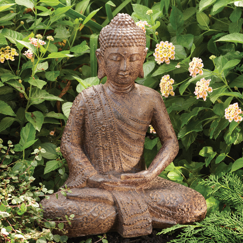 Garden Buddha Statue with Lotus Robe