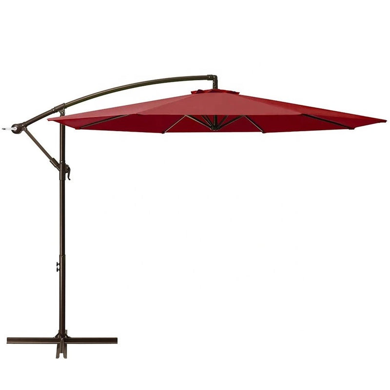 10 Feet 8 Ribs Pu Coated Canopy Steel Outdoor - Asxox
