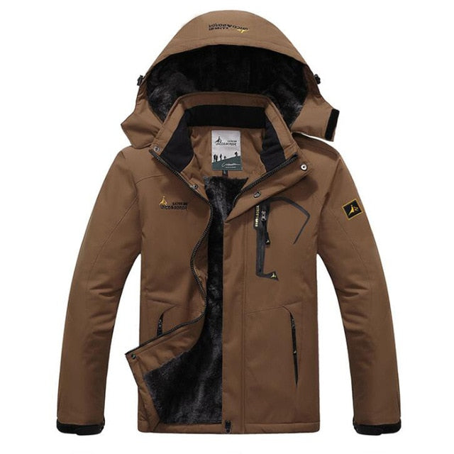 Winter Parka Men Windbreak Plus Velvet Thick Warm - asxox.com