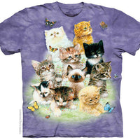 10 Kittens Adults T-Shirt