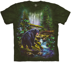Black Bear Forest Adults T-Shirt