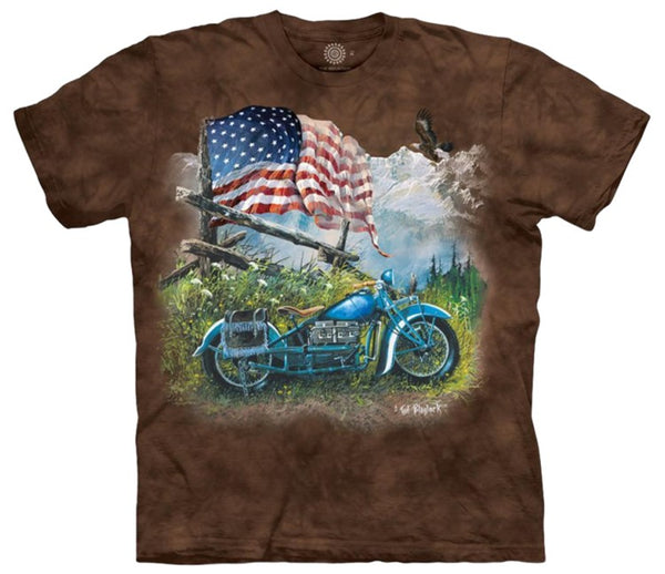 Biker Americana Adults T-Shirt