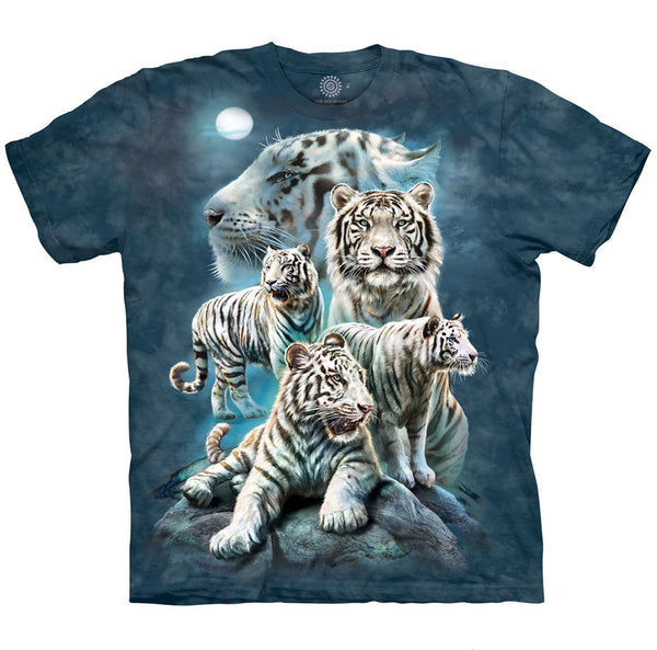 Night Tiger Collage Adults T-Shirt