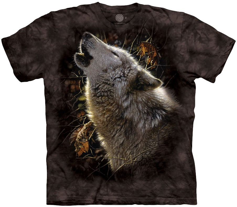 Song of Autumn Wolf Adults T-Shirt