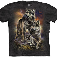 Wolf Family Sunrise Adults T-Shirt