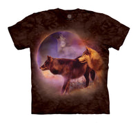 Spirit of the Moon Wolf Adults T-Shirt