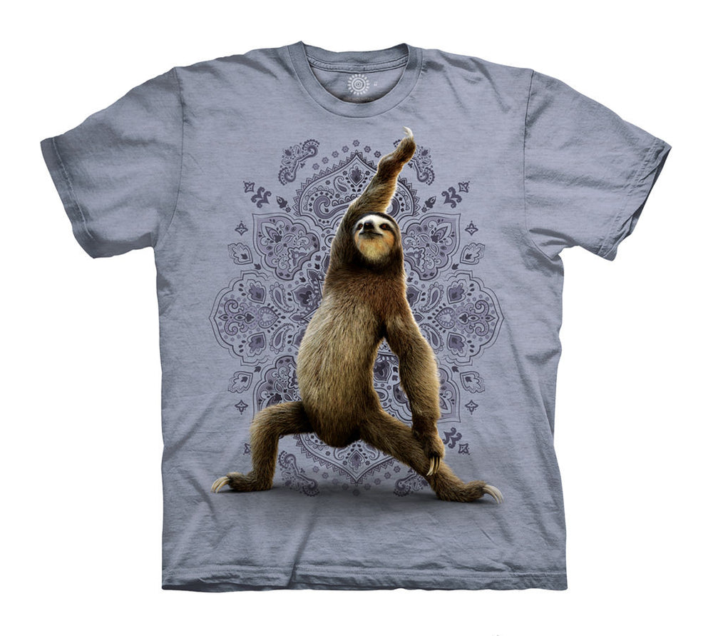 Warrior Sloth Adults T-Shirt (Blue Grey)