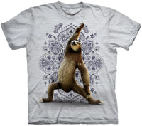 Warrior Sloth Adults T-Shirt (Grey White)