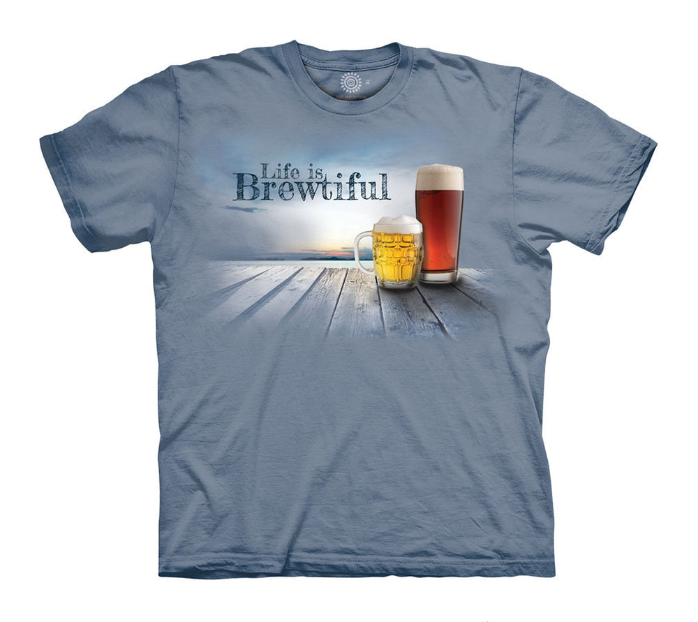 Life is Brewtiful Beer Adults T-Shirt