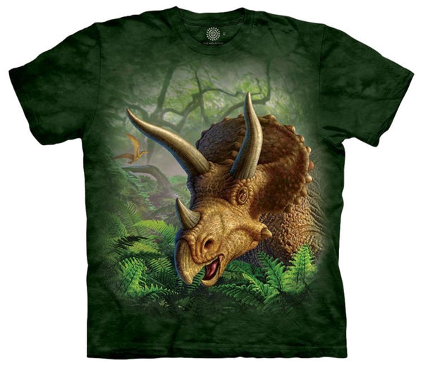 Wild Triceratops Portrait Adults Dinosaur T-Shirt