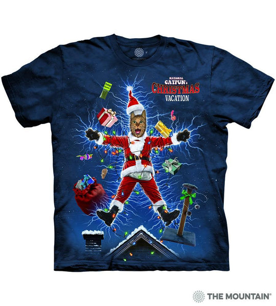Pre-Order: National Catpoons Christmas Vacation Adults T-Shirt