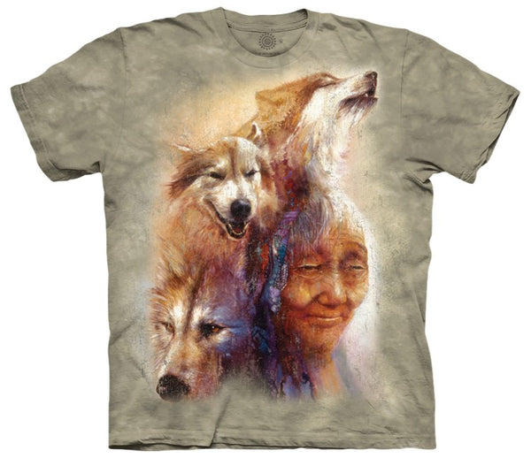 Medicine Woman & Wolves Adults T-Shirt