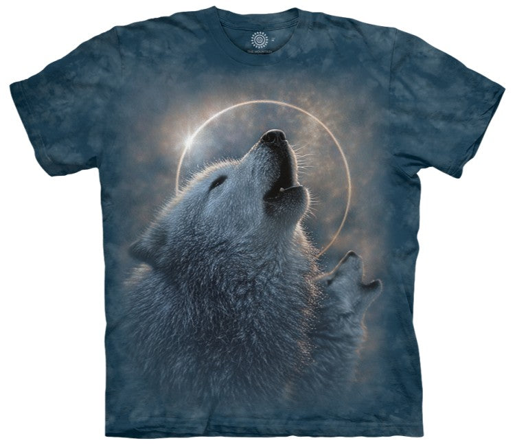 Howling Wolf Eclipse Adults T-Shirt
