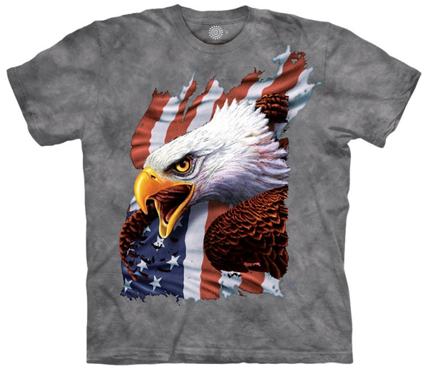 Patriotic Screaming Eagle Adults T-Shirt