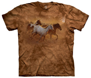 Gold Run Horses Adults T-Shirt