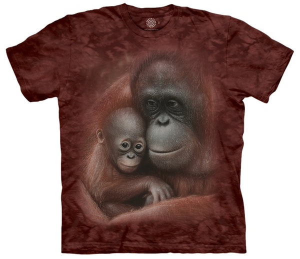 Snuggled Orangutans Adults T-Shirt