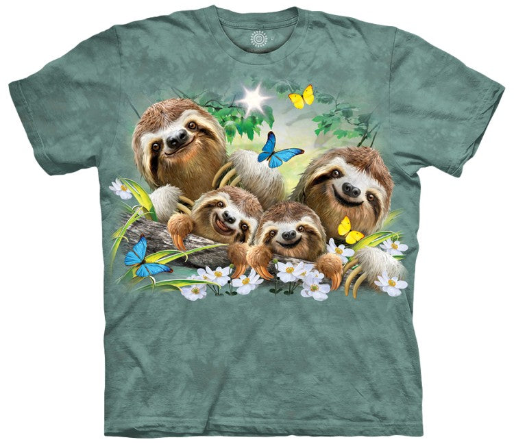 Sloth Family Selfie Adults T-Shirt